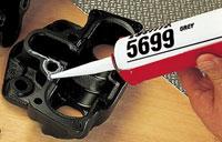 Силиконовые герметики - ''жидкие прокладки'' неподвижных (жестких) соединений, в том числе фланцев. Для зазоров соединений 0,25 - 3 мм. loctite 5699